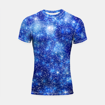 Thumbnail image of  Blurred Star Snow Christmas Sparkle Shortsleeve rashguard, Live Heroes