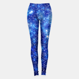 Thumbnail image of  Blurred Star Snow Christmas Sparkle Leggings, Live Heroes