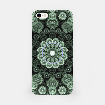 Green Fractal Lace Mandala Circle Pattern Carcasa por Iphone thumbnail image