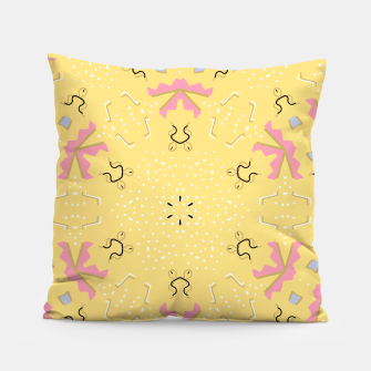 Joy Kaleidoscope Mandala Pillow thumbnail image