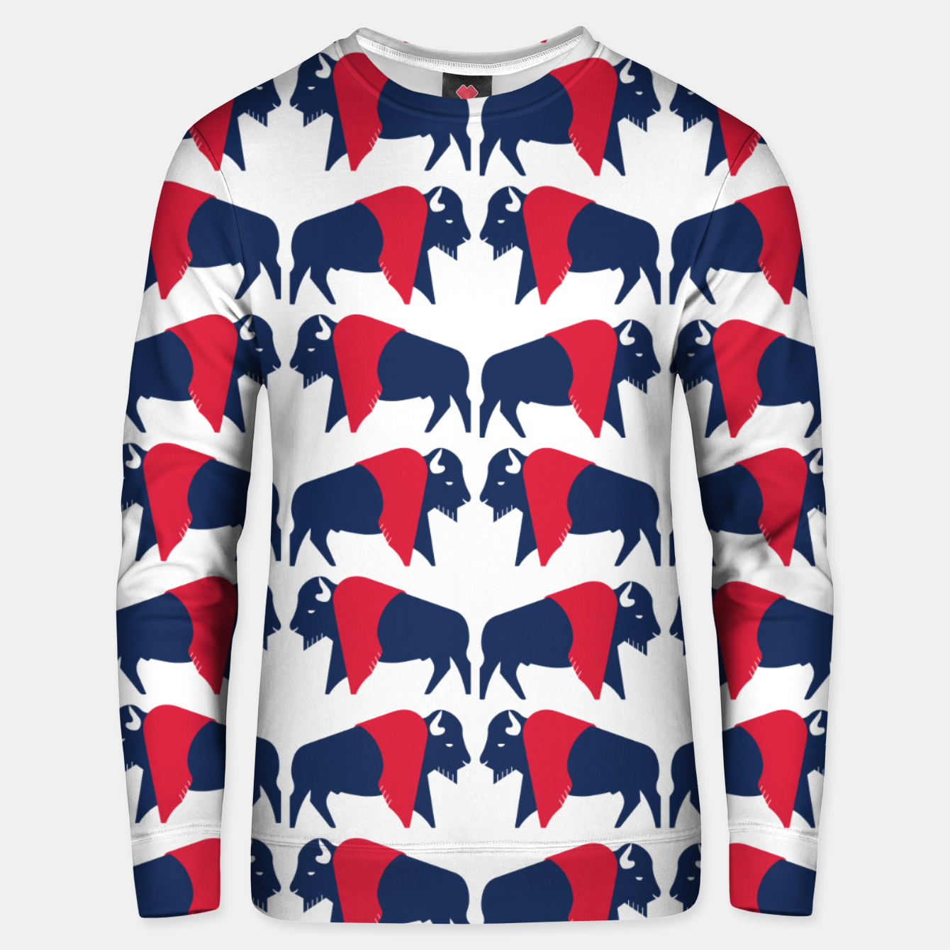 Image of American bison - USA flag symbol Unisex sweater - Live Heroes