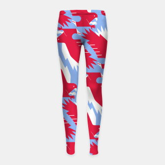 Thumbnail image of White - tailed eagle - Poland flag symbol Girl's leggings, Live Heroes