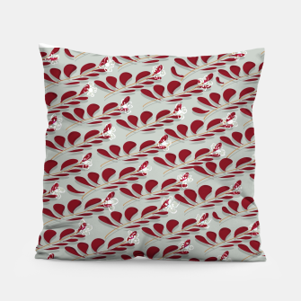 Miniatur Red Leafs white flowers  Almohada, Live Heroes