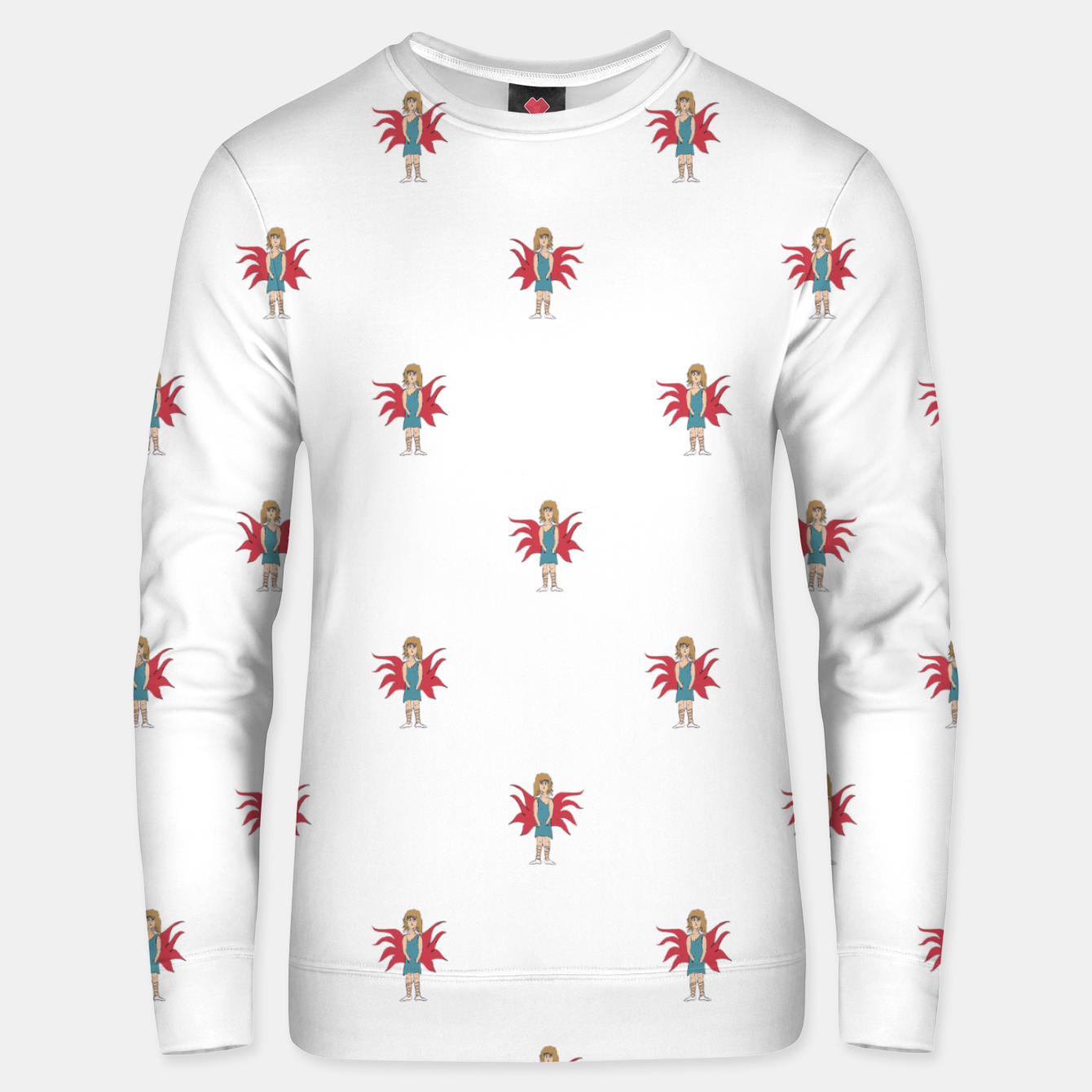 Image of Fairy Girl Drawing Motif Pattern Design Unisex sweater - Live Heroes