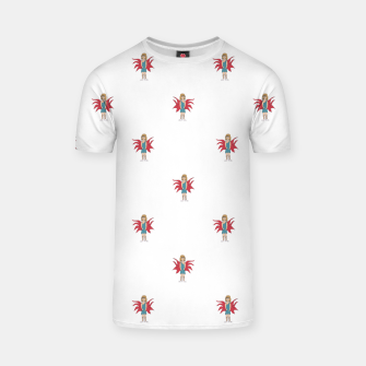 Miniature de image de Fairy Girl Drawing Motif Pattern Design T-shirt, Live Heroes