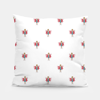 Miniature de image de Fairy Girl Drawing Motif Pattern Design Pillow, Live Heroes