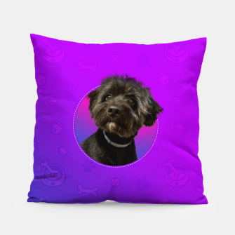 Little Black Dog Pillow thumbnail image
