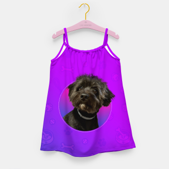 Little Black Dog Girl's dress thumbnail image