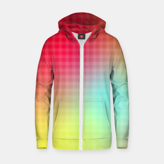 Miniatur Trippy Gradient Zip up hoodie, Live Heroes