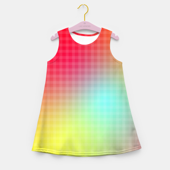 Miniatur Trippy Gradient Girl's summer dress, Live Heroes