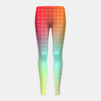 Miniatur Trippy Gradient Girl's leggings, Live Heroes