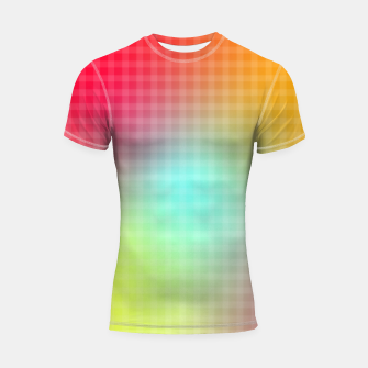 Thumbnail image of Trippy Gradient Shortsleeve rashguard, Live Heroes