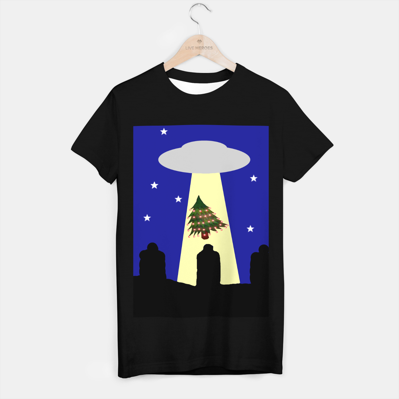 Image of The Stolen Christmas Tree t shirt - Live Heroes