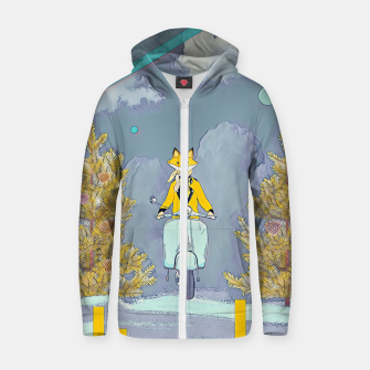 Thumbnail image of Fox Zip up hoodie, Live Heroes