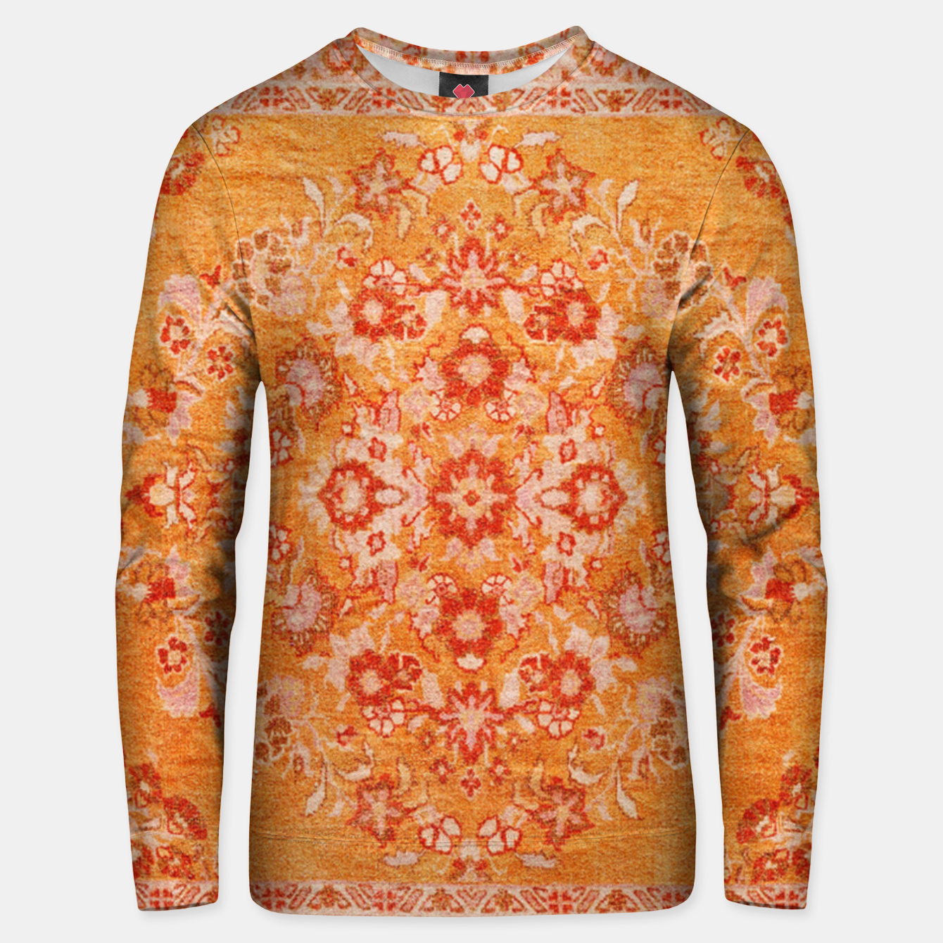 Image of Orange Vintage BOHO Moroccan Style  Unisex sweater - Live Heroes