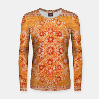 Orange Vintage BOHO Moroccan Style  Women sweater miniature