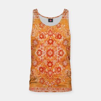 Orange Vintage BOHO Moroccan Style  Tank Top miniature
