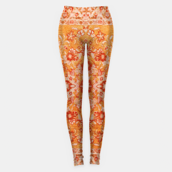 Orange Vintage BOHO Moroccan Style  Leggings miniature