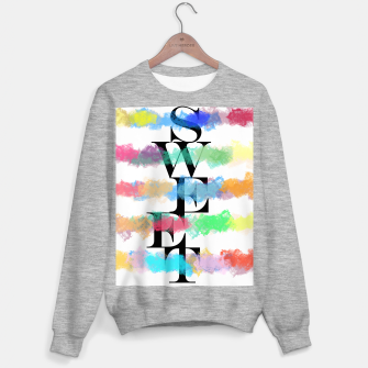 Thumbnail image of SWEET Typography Sweatshirt regulär, Live Heroes
