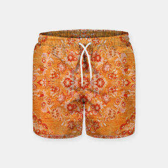 Orange Vintage BOHO Moroccan Style  Swim Shorts miniature