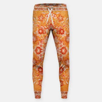 Thumbnail image of Orange Vintage BOHO Moroccan Style  Sweatpants, Live Heroes