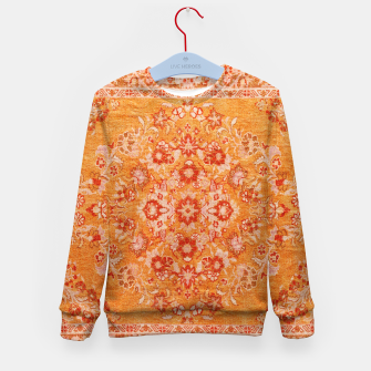 Thumbnail image of Orange Vintage BOHO Moroccan Style  Kid's sweater, Live Heroes