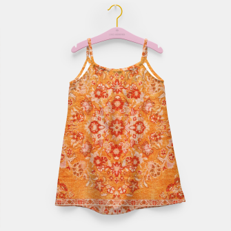 Orange Vintage BOHO Moroccan Style  Girl's dress miniature