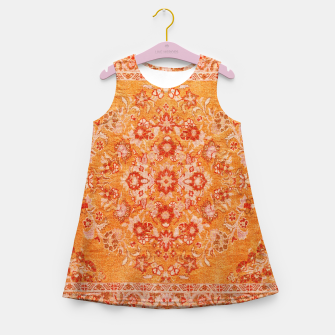 Orange Vintage BOHO Moroccan Style  Girl's summer dress miniature