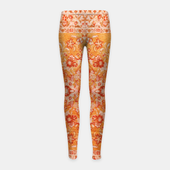 Orange Vintage BOHO Moroccan Style  Girl's leggings miniature