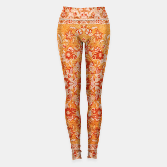 Thumbnail image of Orange Vintage BOHO Moroccan Style  Leggings, Live Heroes