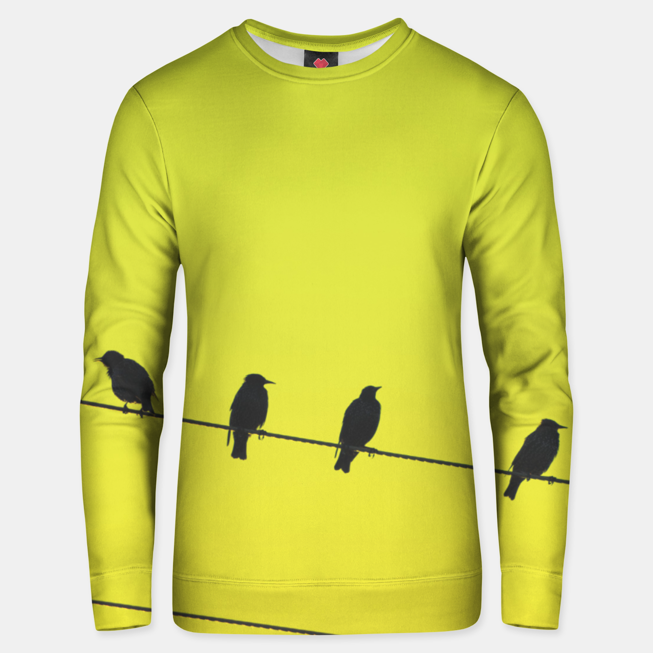 Foto Four birds on a wire Unisex sweater - Live Heroes
