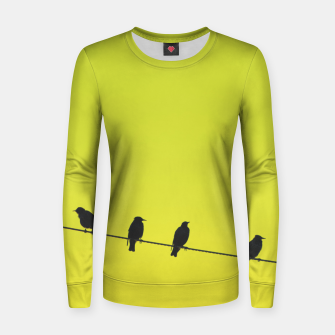 Four birds on a wire Women sweater Bild der Miniatur