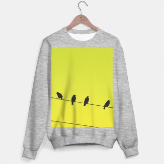Four birds on a wire Sweater regular Bild der Miniatur