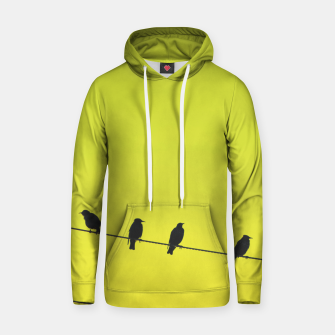 Four birds on a wire Hoodie Bild der Miniatur