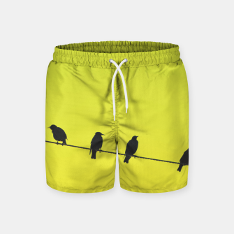 Miniatur Four birds on a wire Swim Shorts, Live Heroes
