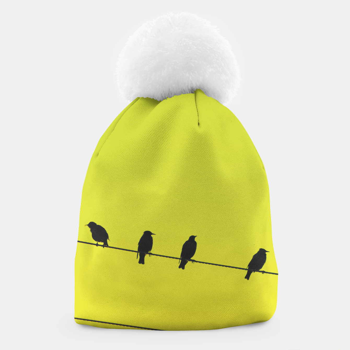 Foto Four birds on a wire Beanie - Live Heroes