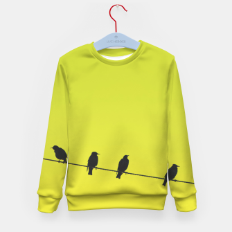 Four birds on a wire Kid's sweater Bild der Miniatur