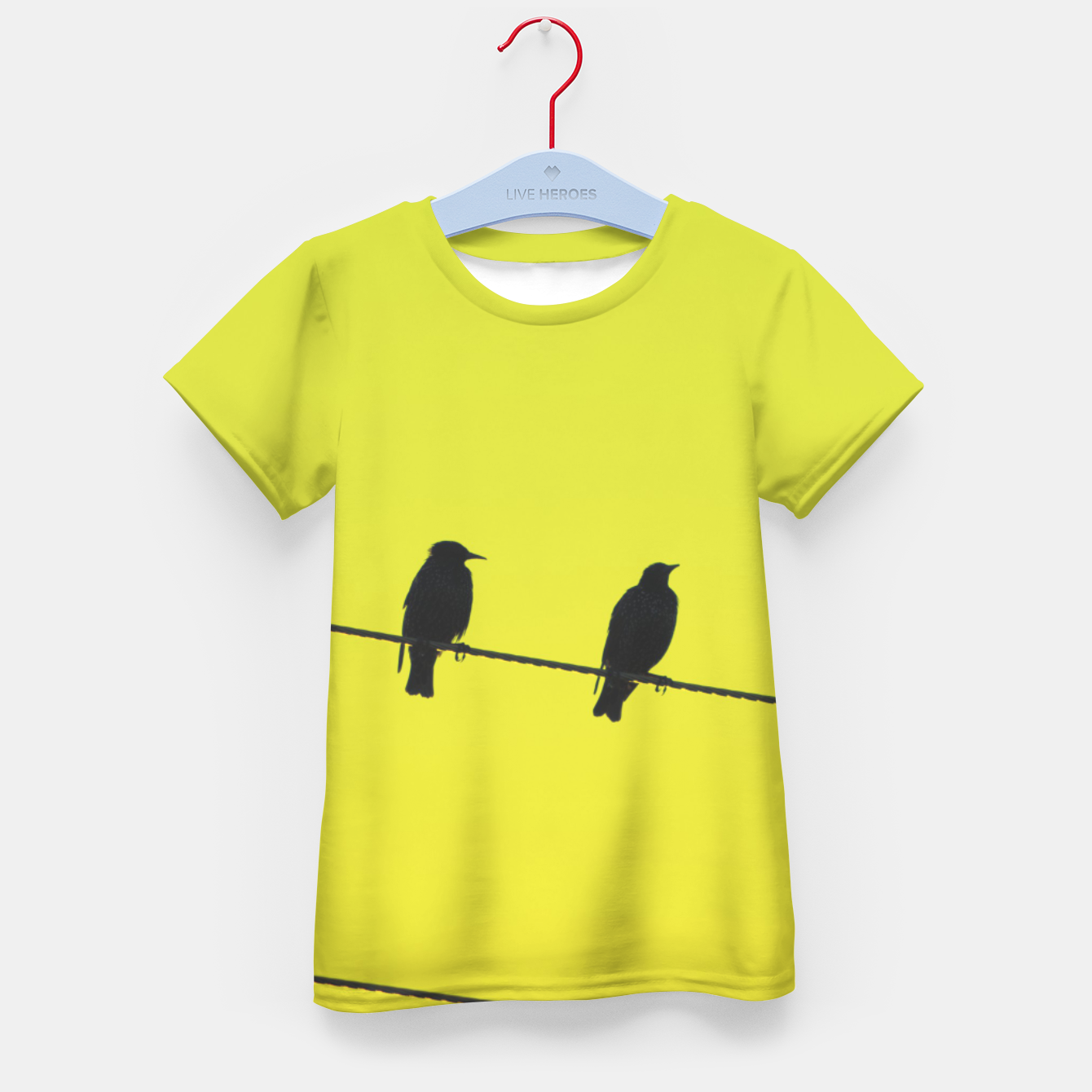 Foto Four birds on a wire Kid's t-shirt - Live Heroes