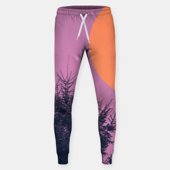 Miniatur Snowy pine tree and colorful background Sweatpants, Live Heroes