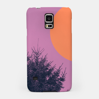 Miniatur Snowy pine tree and colorful background Samsung Case, Live Heroes