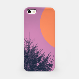 Miniatur Snowy pine tree and colorful background iPhone Case, Live Heroes