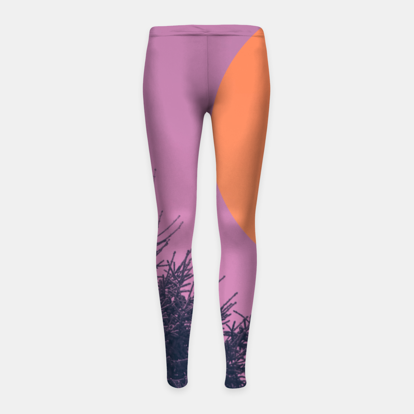 Foto Snowy pine tree and colorful background Girl's leggings - Live Heroes