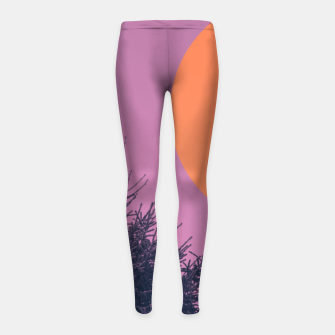 Miniatur Snowy pine tree and colorful background Girl's leggings, Live Heroes