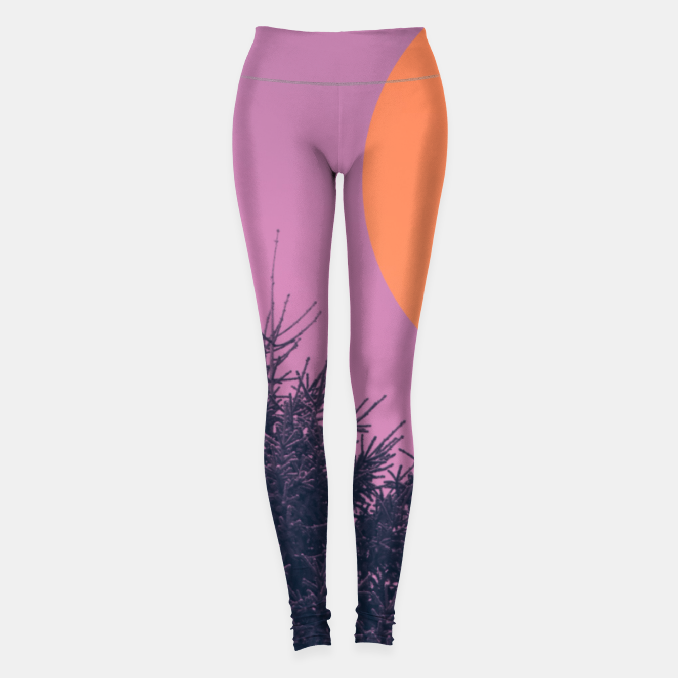 Foto Snowy pine tree and colorful background Leggings - Live Heroes