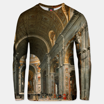 Interior of St. Peter's, Rome by	Giovanni Paolo Panini Unisex sweater thumbnail image
