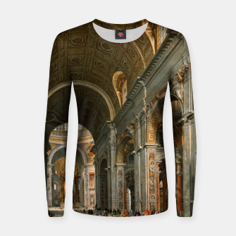 Interior of St. Peter's, Rome by	Giovanni Paolo Panini Women sweater thumbnail image