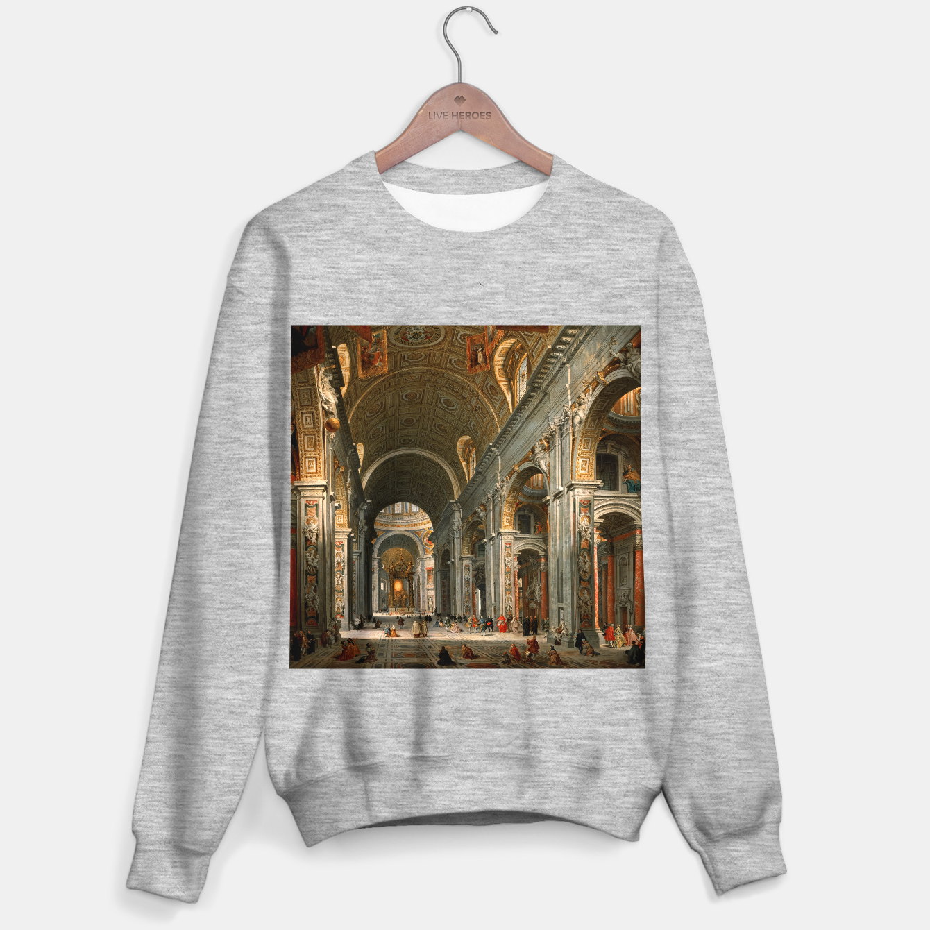 Image of Interior of St. Peter's, Rome byGiovanni Paolo Panini Sweater regular - Live Heroes