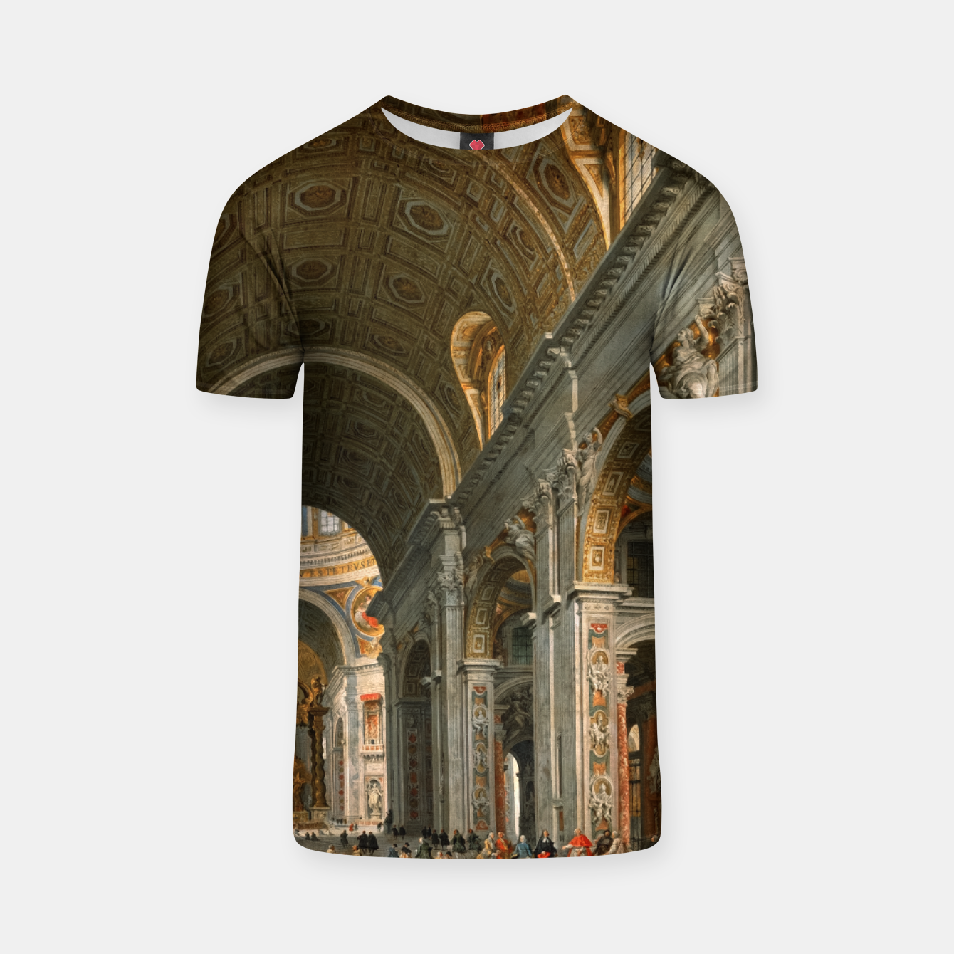 Image of Interior of St. Peter's, Rome byGiovanni Paolo Panini T-shirt - Live Heroes