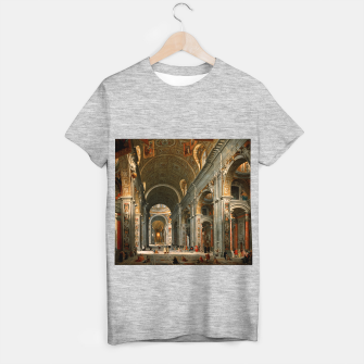 Miniaturka Interior of St. Peter's, Rome by	Giovanni Paolo Panini T-shirt regular, Live Heroes