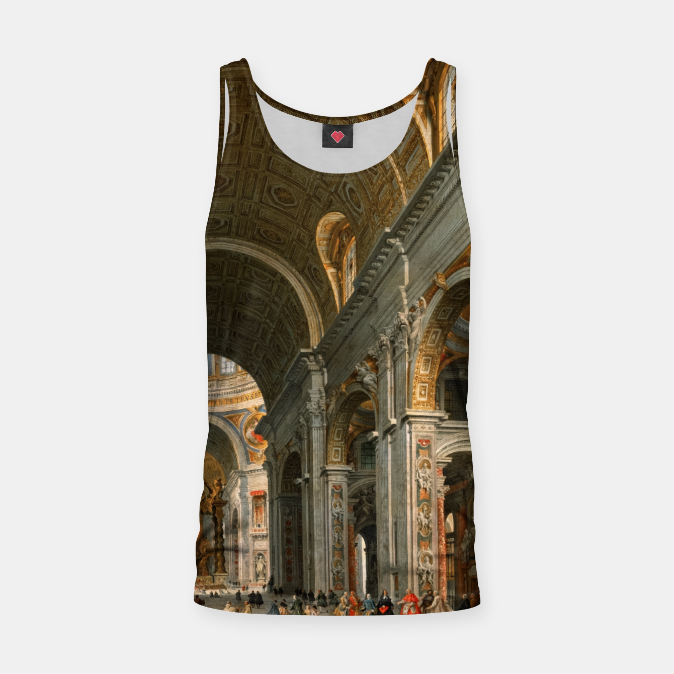 Image of Interior of St. Peter's, Rome by	Giovanni Paolo Panini Tank Top - Live Heroes